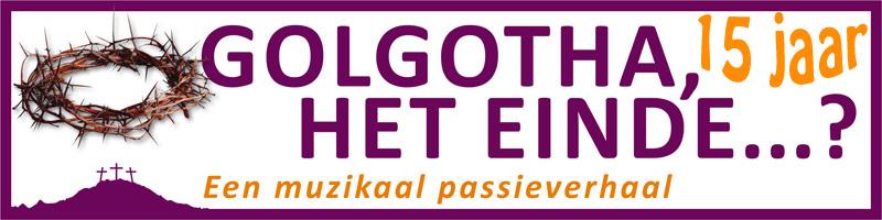 Banner Golgotha 15 jaar